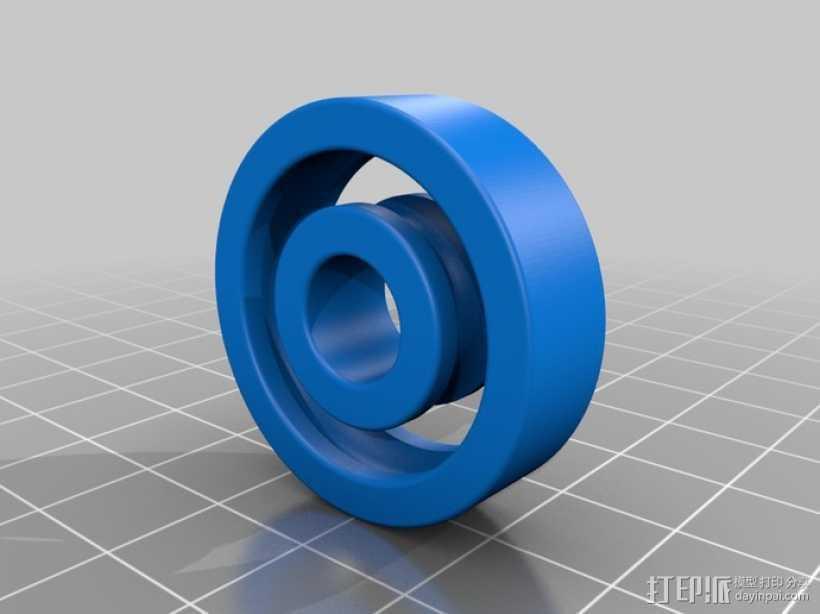 1.25 x .375滚珠轴承 3D打印模型渲染图