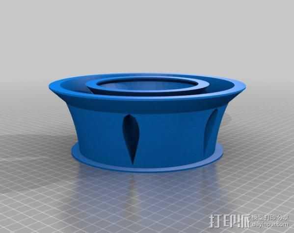 涡轮环 3D打印模型渲染图