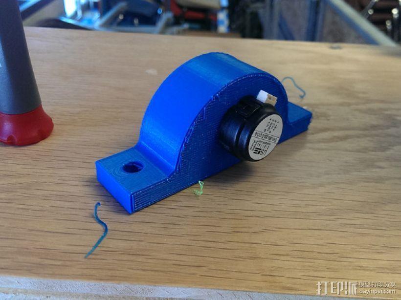 旋转编码器座架 固定夹 3D打印模型渲染图