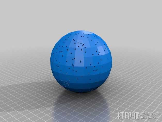 球形天体模型 3D打印模型渲染图