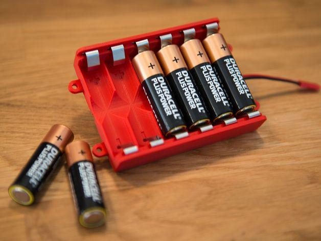 AA电池 电池箱 3D打印模型渲染图
