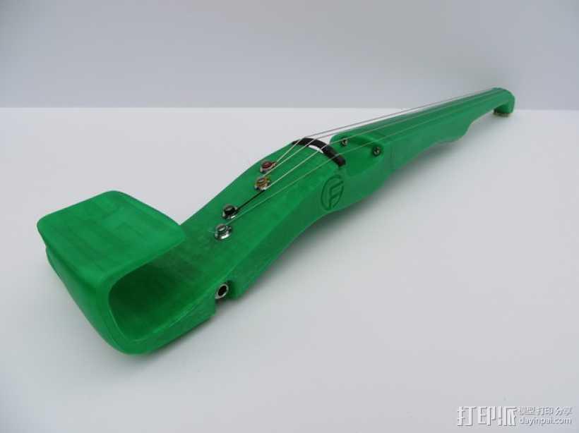 小提琴 3D打印模型渲染图