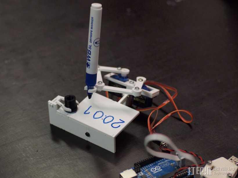 时钟 3D打印模型渲染图