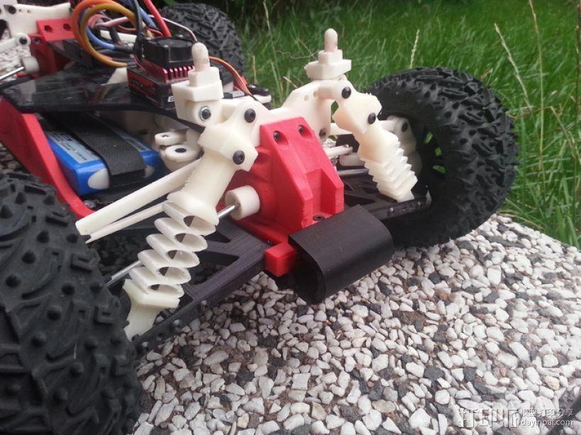 汽车减震装置 3D打印模型渲染图