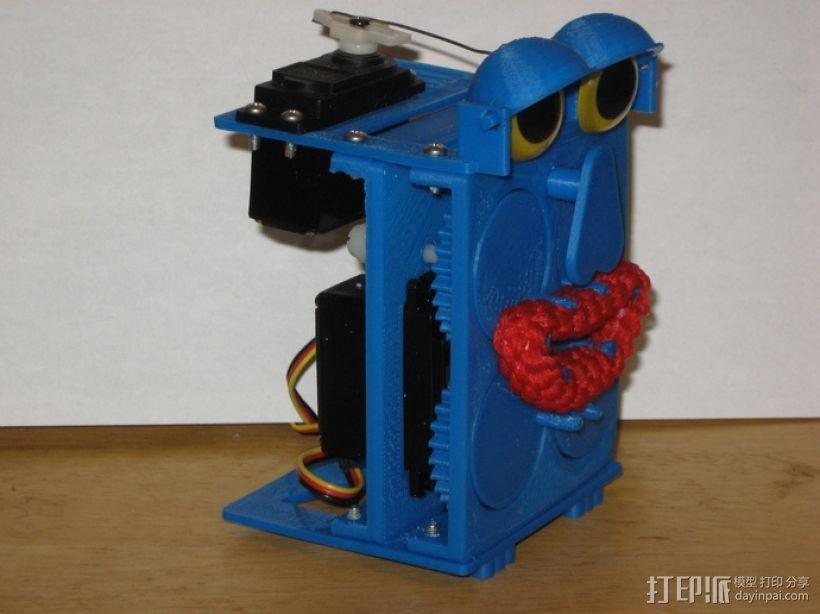 会说话的机器人 3D打印模型渲染图