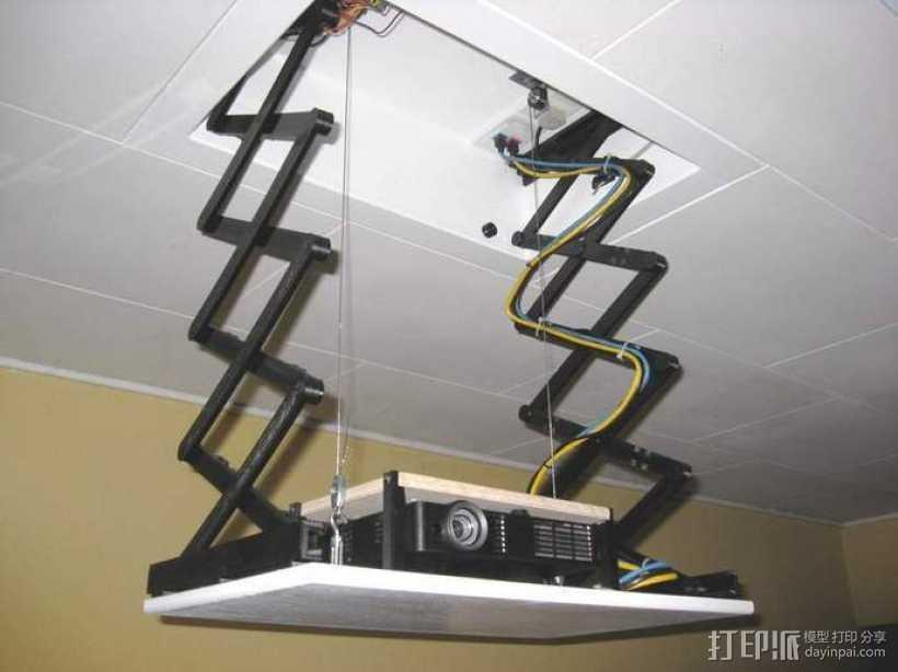剪刀式升降机 3D打印模型渲染图