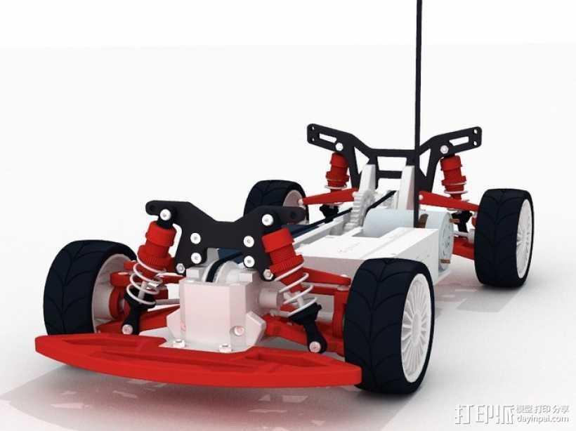 遥控车 3D打印模型渲染图