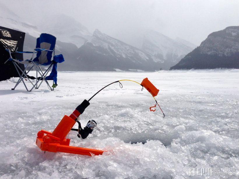 自动钓鱼竿 3D打印模型渲染图