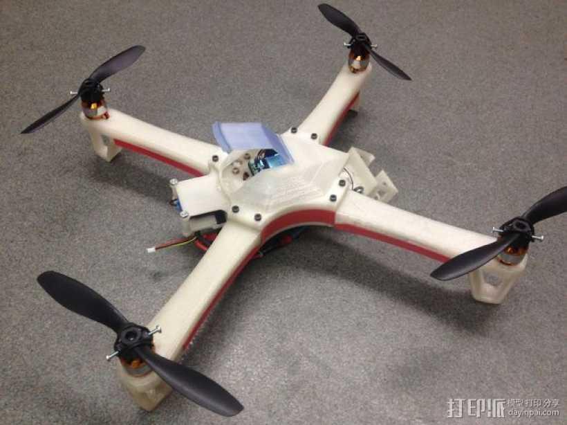 四翼飞行器 3D打印模型渲染图