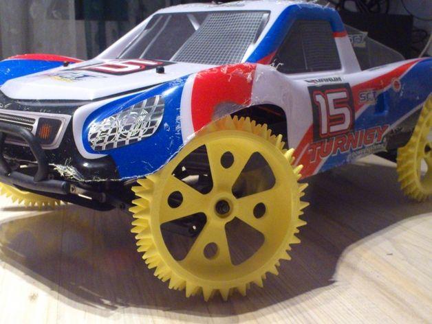 防滑车轮 3D打印模型渲染图