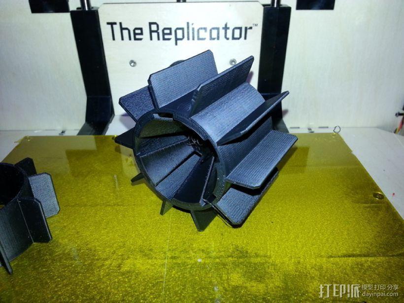 个性化遥控赛车轮子 3D打印模型渲染图
