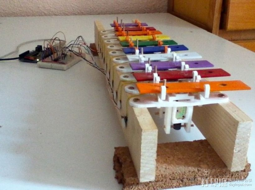 USB木琴 3D打印模型渲染图