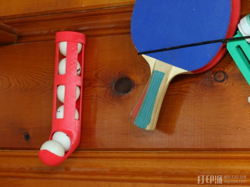乒乓球球盒 3D打印模型渲染图