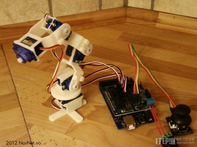 迷你机械臂 3D打印模型渲染图