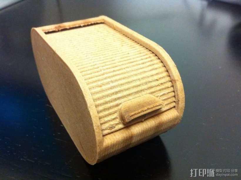 辊箱盒 圆形 3D打印模型渲染图