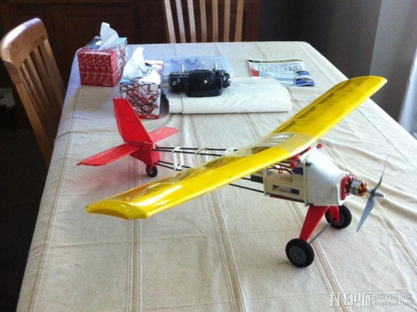 个性化遥控飞机 3D打印模型渲染图