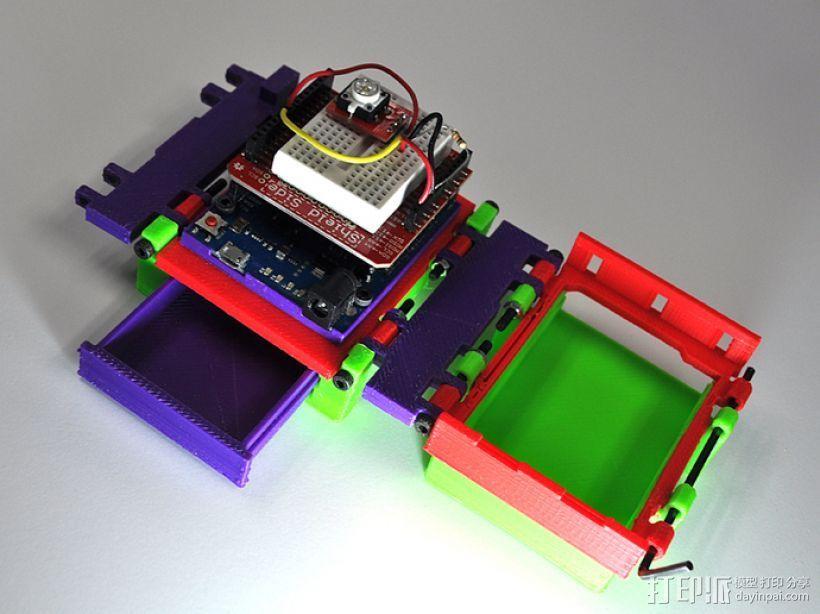 可折叠Arduino电路板外壳 3D打印模型渲染图