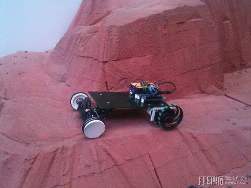 迷你遥控车 3D打印模型渲染图