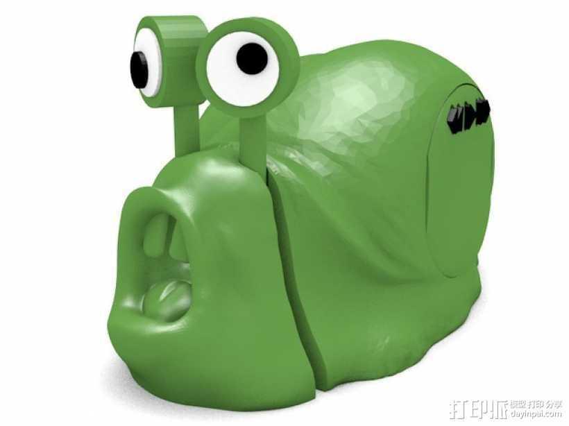 蜗牛混音带 3D打印模型渲染图