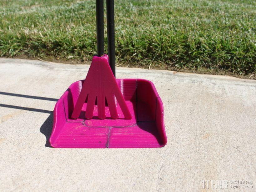 长柄粪铲 3D打印模型渲染图