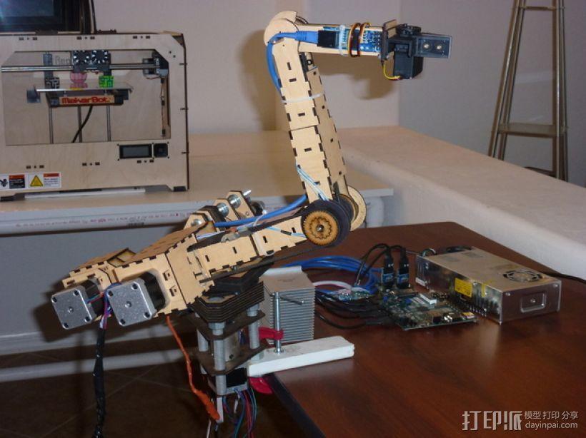 四轴机械手臂 3D打印模型渲染图