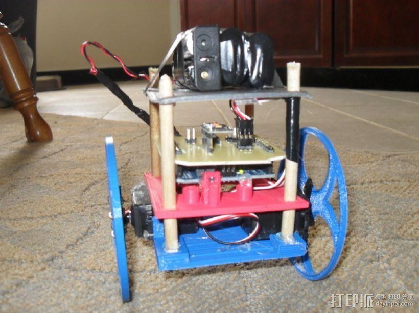 平衡机器人 3D打印模型渲染图