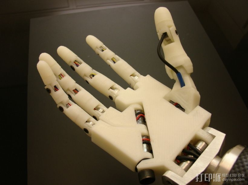 InMoov机械手 3D打印模型渲染图