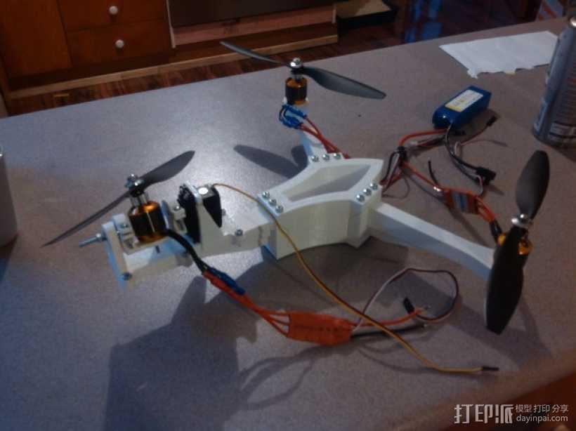 三轴飞行器 3D打印模型渲染图
