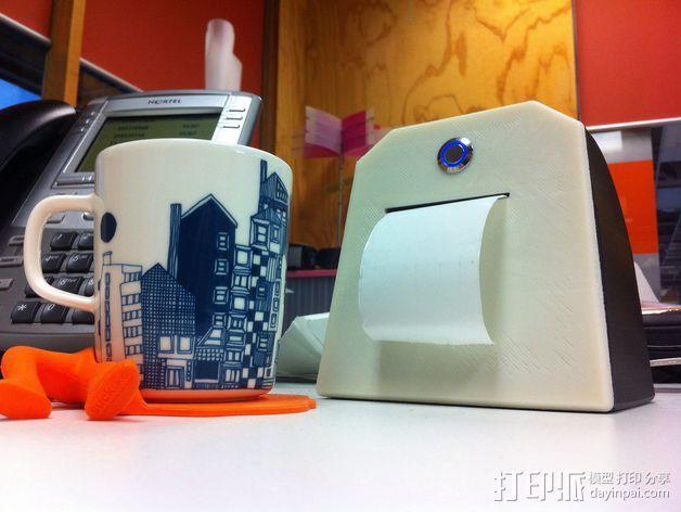 Adafruit IoT热敏打印机外壳 3D打印模型渲染图