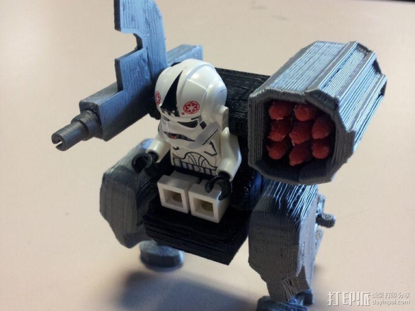 迷你机械玩偶 3D打印模型渲染图