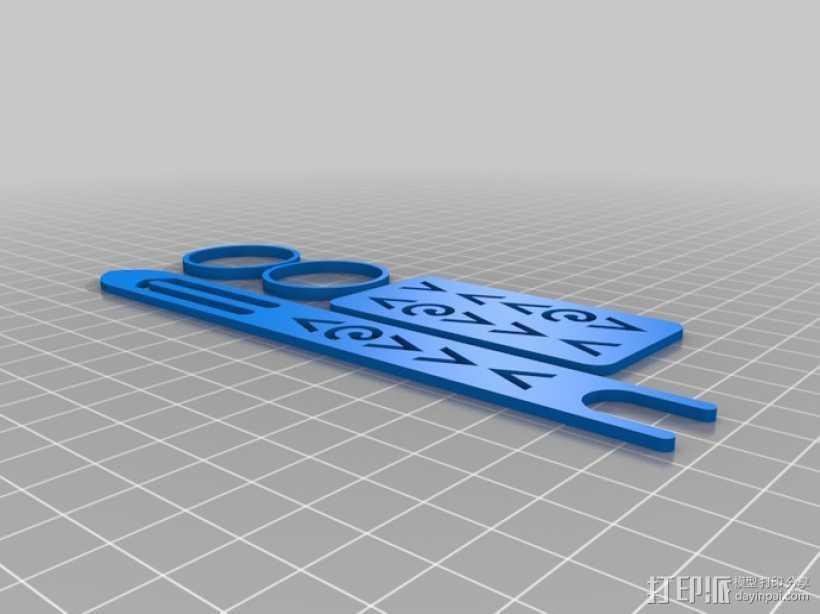 网络编制工具 3D打印模型渲染图