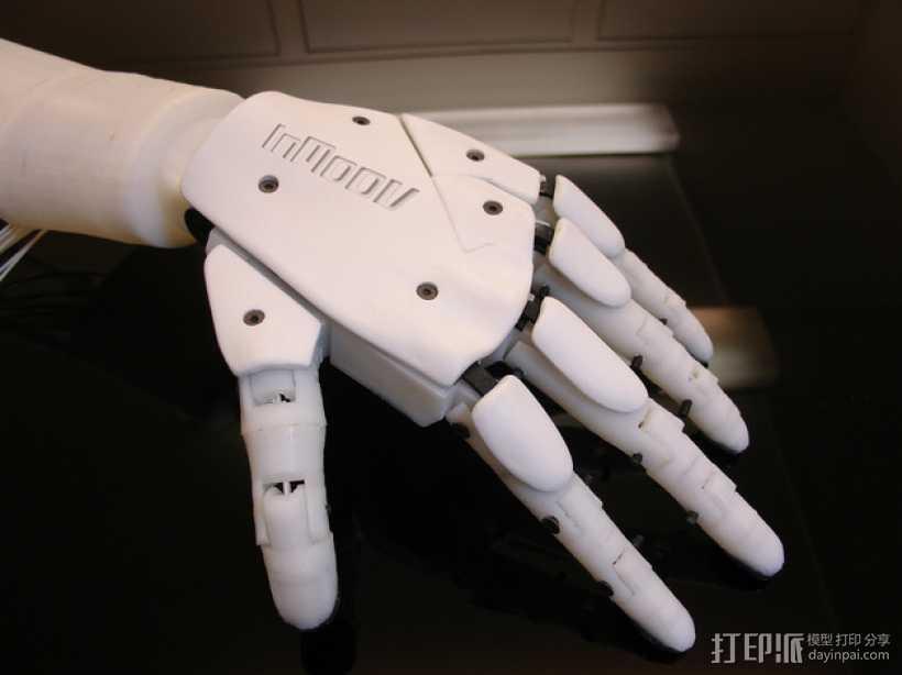 """左手机器人""""前进者"""" 3D打印模型渲染图"""