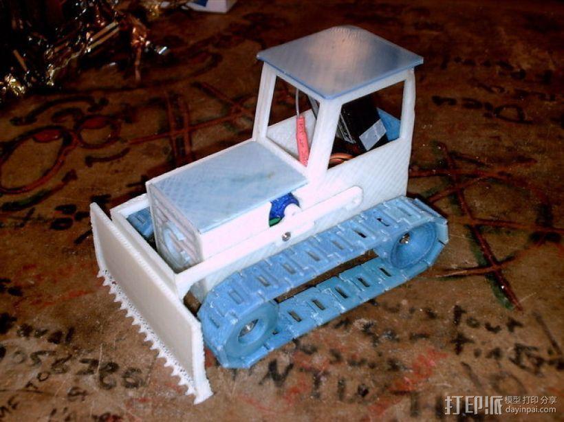RC打印推土机 3D打印模型渲染图