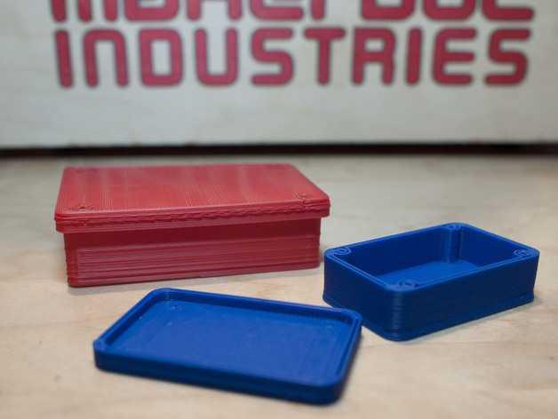 圆角参数项目盒 3D打印模型渲染图