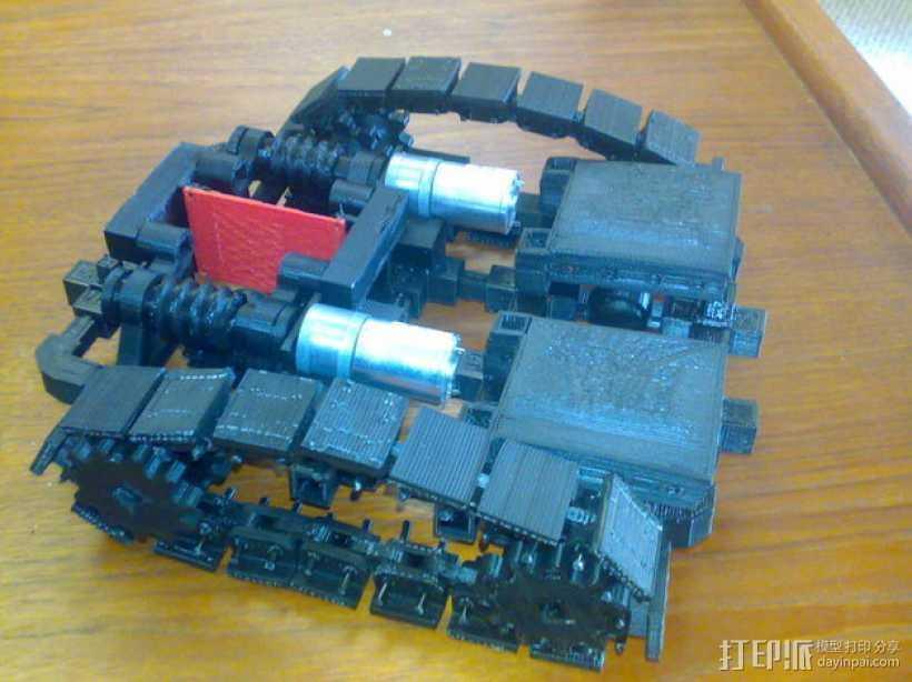 第二代坦克 3D打印模型渲染图