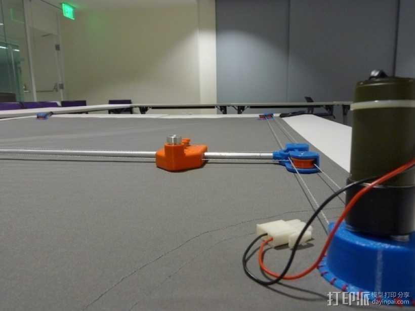 桌布上的机器人 3D打印模型渲染图