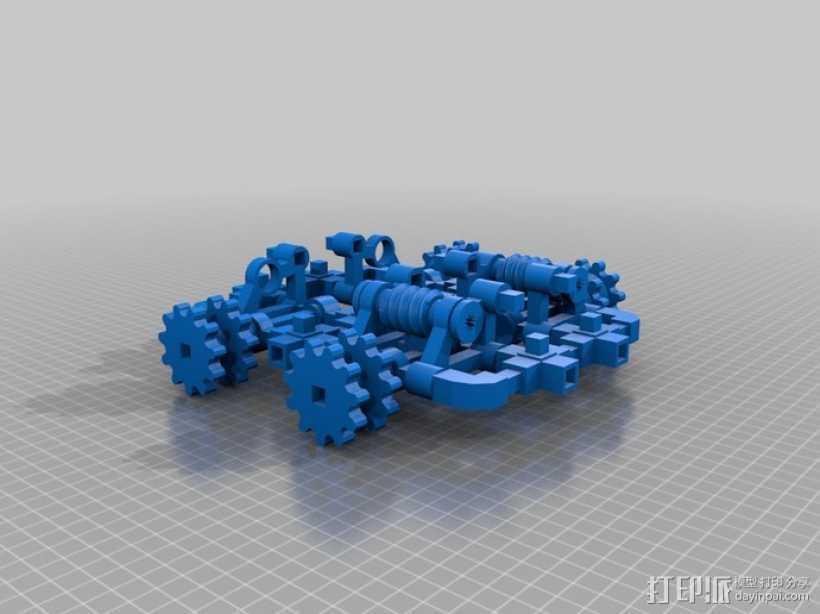 坦克! 3D打印模型渲染图