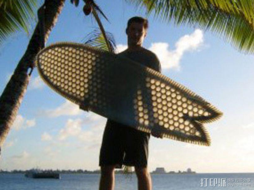 6尺4的冲浪板 3D打印模型渲染图