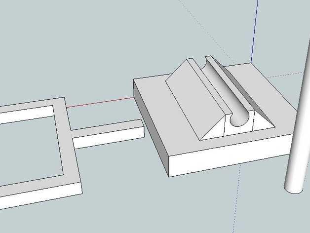 迷你桌上杠杆开关 3D打印模型渲染图