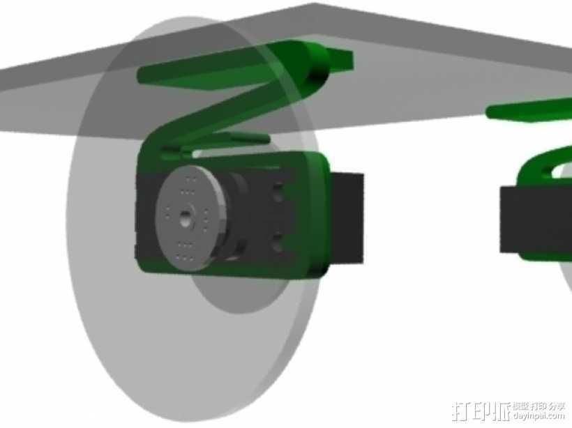 伺服悬浮系统 3D打印模型渲染图