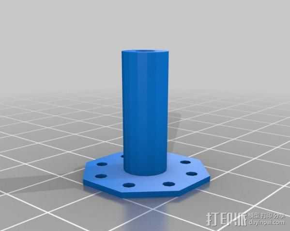 电磁铁半杆 3D打印模型渲染图