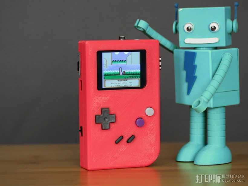 DIY树莓派游戏机 3D打印模型渲染图