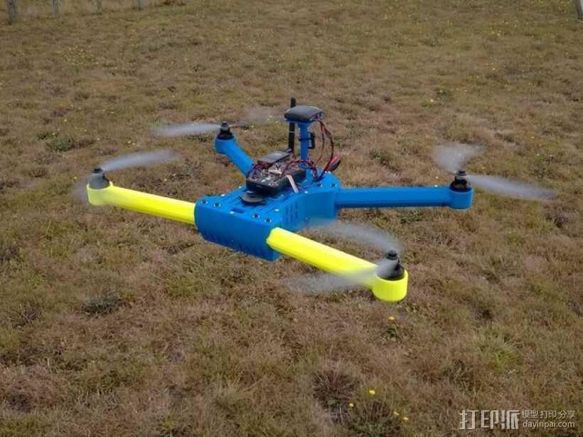 T4 四轴飞行器 3D打印模型渲染图