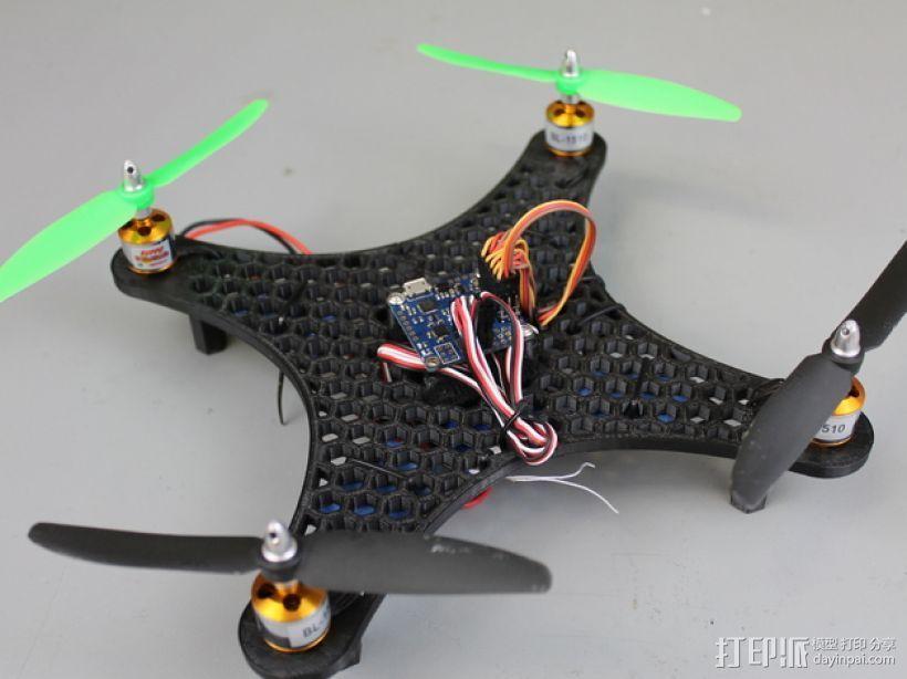 DIY迷你四轴飞行器蜂巢版 3D打印模型渲染图