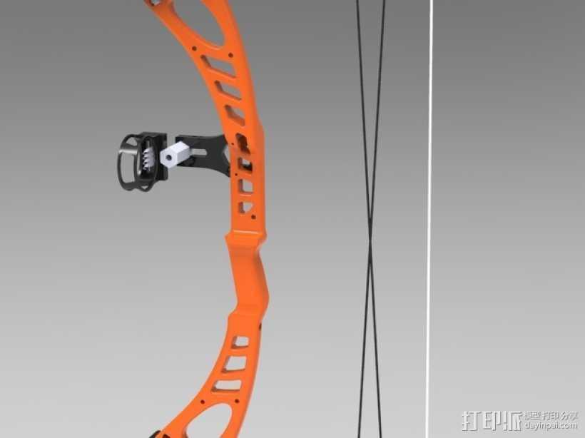 少年复合弓 3D打印模型渲染图