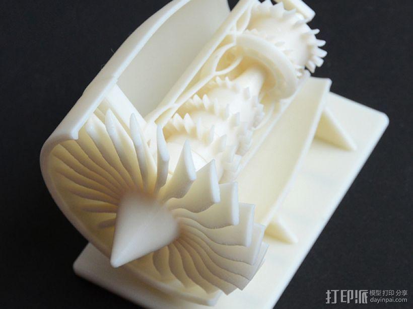 GE 喷气引擎舱 3D打印模型渲染图