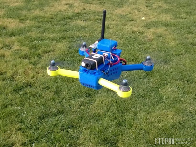 T4 四轴飞行器 Mini 250 (5英寸) 3D打印模型渲染图