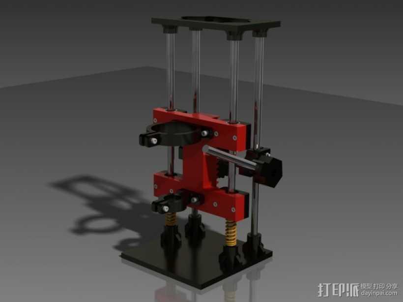 Dremel的钻床 3D打印模型渲染图