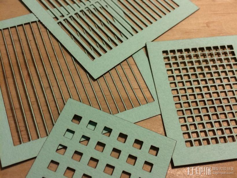 参数网格和板条发生器 3D打印模型渲染图