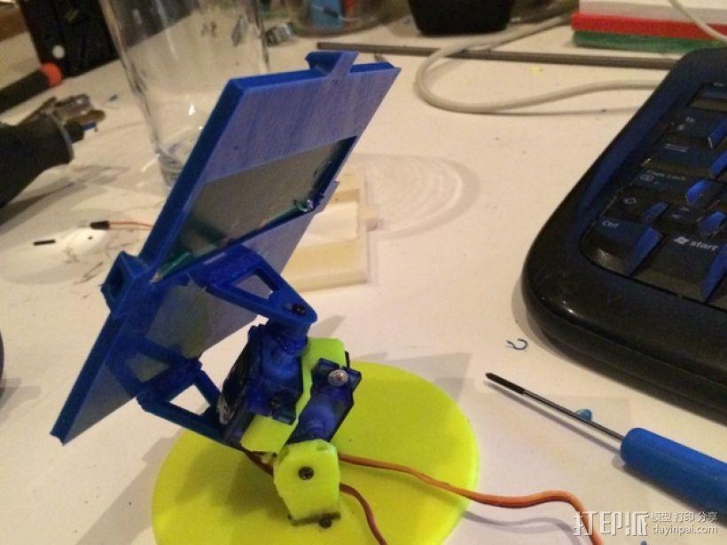 太阳与太阳能板的奇幻爱情 3D打印模型渲染图